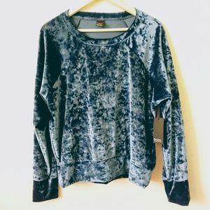 NWT Free Press Blue Velvet Top Sleepwear XL
